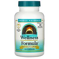 Source Naturals, Wellness Formula, витамин C и более 25 витаминов,120 капсул