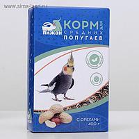 """Корм """"Пижон"""" для средних попугаев, с орехами, 400 г"""
