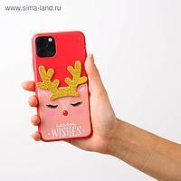 Чехол для телефона iPhone 11 pro max «Олененок», с дополнительным элементом 7,8 х 15,8 см