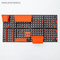 Панель инструментальная с наполнением Blocker Expert, 65,2×10×32,6 см, цвет черный-оранжевый