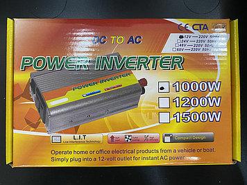 Инвертор DC to AC 12v-220v 1000w (Автомобильный преобразователь напряжения)