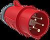 Вилка переносная ССИ-025 32А-6ч/200/346-240/415В 3Р+РЕ+N IP44 MAGNUM ИЭК