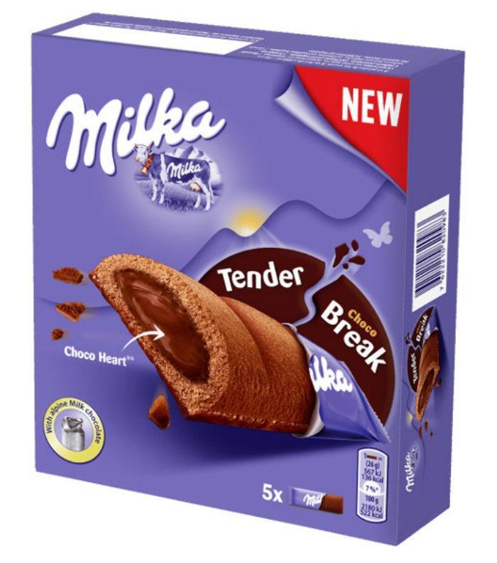 Бисквит Milka Tender Break Choco (черные) 130г (12шт - упак)
