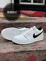 Кеды Nike Jordan низк белый чер 108-14