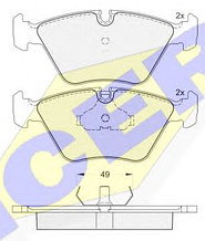 Тормозные колодки GROSS-043(REMSA 270.00)