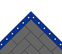 Ковер борцовский трехцветный 12х12м с покрышкой, маты НПЭ толщина 5 см, фото 3