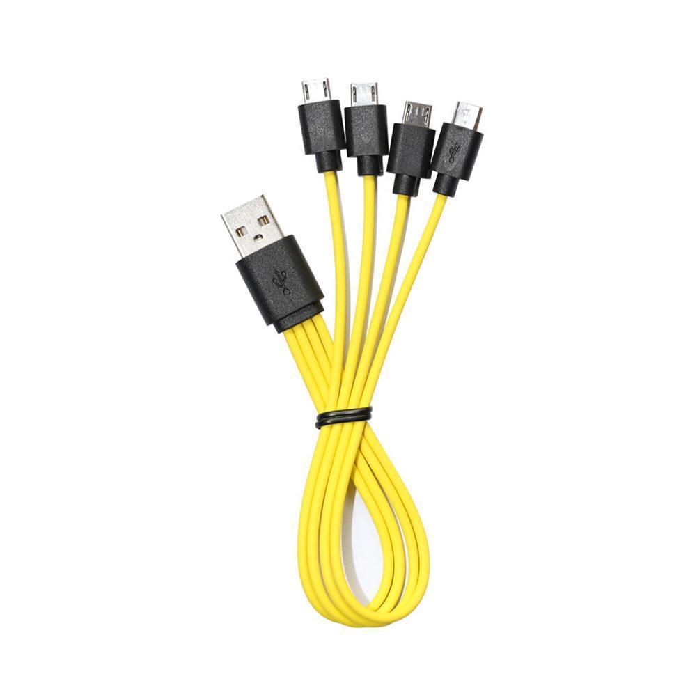 Зарядный кабель 4 Micro USB для аккумуляторов