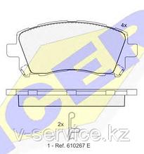 Тормозные колодки GROSS-206(REMSA 655.02)