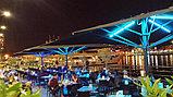 Освещение ресторанов, баров, кафе, летних площадок, подсветка зонтиков на летних площадках, фото 7