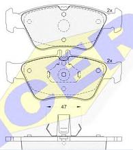 Тормозные колодки GROSS-227(REMSA 586.00)