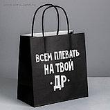 Пакет подарочный бумажный с разными приколами размер 22 × 22 × 11 см и 24 х 14 х 30 см, фото 9
