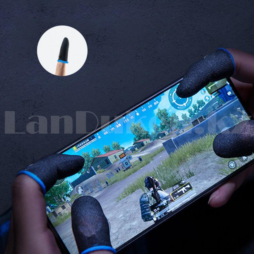 Игровые перчатки для пальцев для игр на телефоне сенсорные ультратонкие многоразовые черные - фото 7