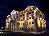 Освещение зданий, фасадов зданий светодиодной лентой, гибким неоном, прожекторами, светильниками., фото 5