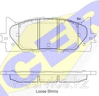 Тормозные колодки GROSS-444(REMSA 1233.00)