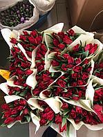 Эксклюзивные тюльпаны на 8 марта с логотипом вашей компании