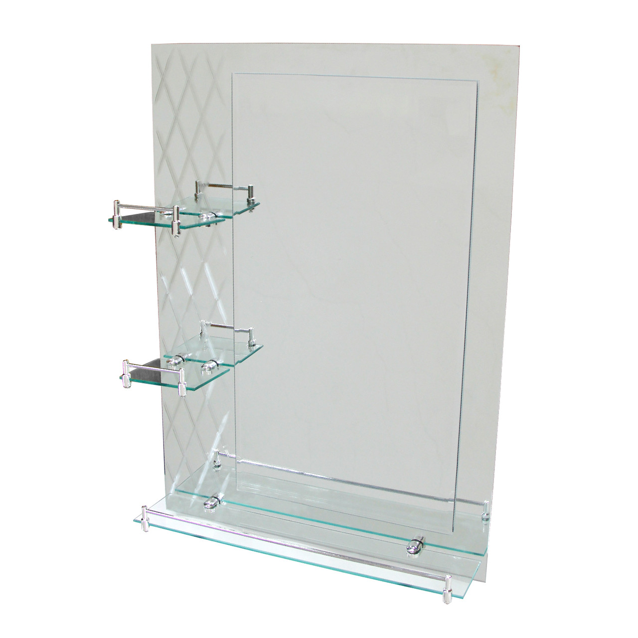 Зеркало с 3-я полочками