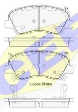 Тормозные колодки GROSS-658(REMSA 1488.02)