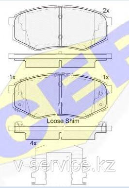 Тормозные колодки GROSS-665(REMSA 1426.02)