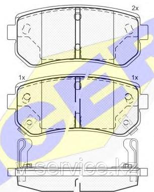 Тормозные колодки GROSS-669(REMSA 1209.02)