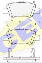 Тормозные колодки GROSS-688(REMSA 1356.02)