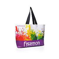 Разноцветная промо-сумка для покупок (фиолетовая) 50x12x40 см