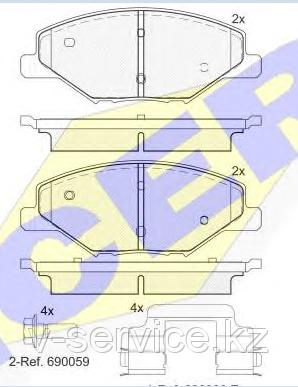 Тормозные колодки GROSS-689(REMSA 1553.00)