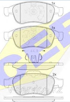 Тормозные колодки GROSS-695(REMSA 1249.10)