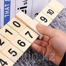 Деревянная арифметическая линейка для изучения состава числа, фото 3