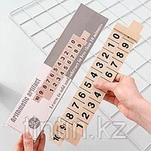 Деревянная арифметическая линейка для изучения состава числа, фото 2
