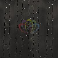 Светодиодная гирлянда Дождь - 2х6 метров, 1140 лампочек, тёпло-белый цвет, светит постоянно