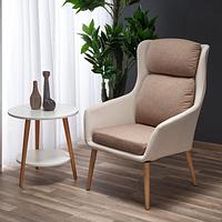 PURIO кресло бежево-коричневое