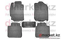 Коврики полики Toyota Camry V50, черные, резиновые, 5 предметов, фото 1