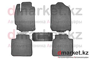 Коврики полики Toyota Camry V50, черные, резиновые, 5 предметов