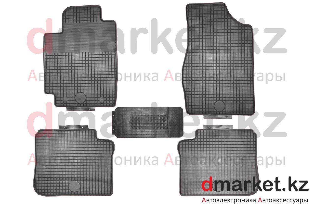 Коврики полики Toyota Camry V30, черные, резиновые, 5 предметов