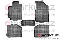 Коврики полики Toyota Camry V30, черные, резиновые, 5 предметов, фото 1