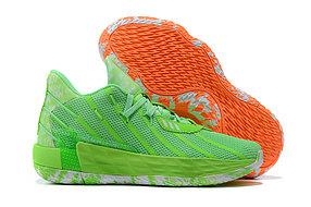 """Баскетбольные кроссовки Dame 7 """"Green&Orange"""" (40-46)"""