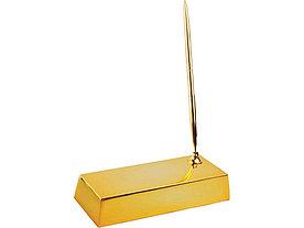 Настольный прибор Золотой слиток, золотистый