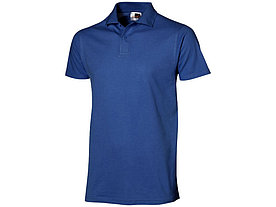 Рубашка поло First мужская, классический синий