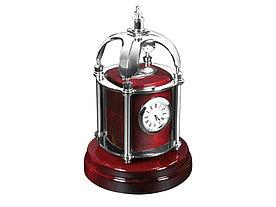 Часы настольные Султан, красное дерево/серебристый