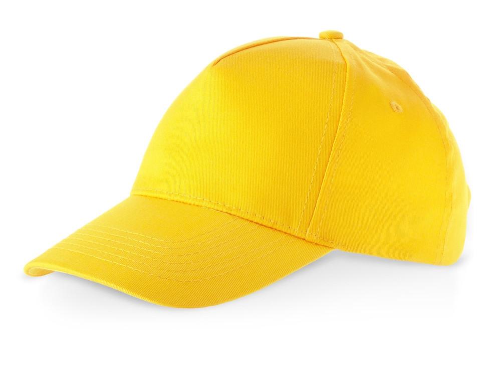 Бейсболка Memphis 5-ти панельная, золотисто-желтый