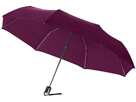 Зонт Alex трехсекционный автоматический 21,5, бургунди