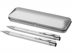 Набор Dublin: ручка шариковая, карандаш механический, серебристый