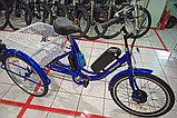 """36v 350w, аккум. Li-ion 36v 15A/H. Электровелосипед трехколесный. Вес 30 Кг. Колеса 24""""., фото 2"""