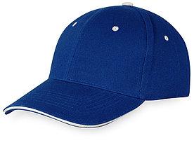 Бейсболка New Castle 6-ти панельная, синий/натуральный