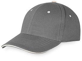 Бейсболка New Castle 6-ти панельная, серый/натуральный