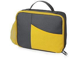 Изотермическая сумка-холодильник Breeze для ланч-бокса, серый/желтый
