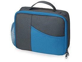 Изотермическая сумка-холодильник Breeze для ланч-бокса, серый/голубой