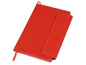 Блокнот A5 Horsens с шариковой ручкой-стилусом, красный