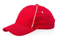 Бейсболка Break 6-ти панельная, красный/белый