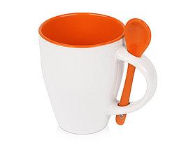 Кружка Авеленго с ложкой, оранжевый